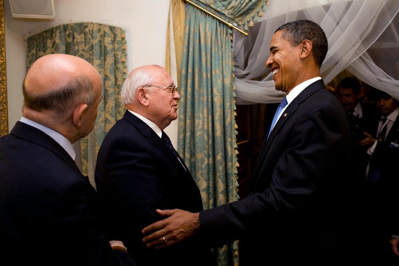 Obama and Gorbachev