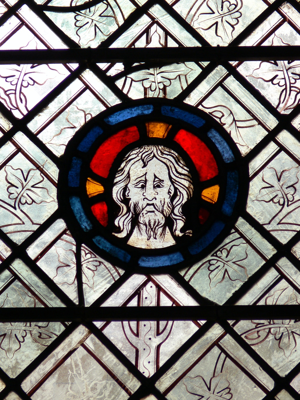 Stained Glass: Bust of Christ