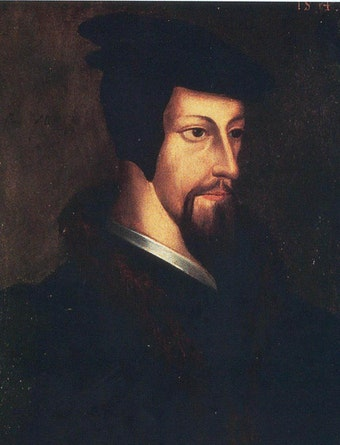 Portrait of Young John Calvin