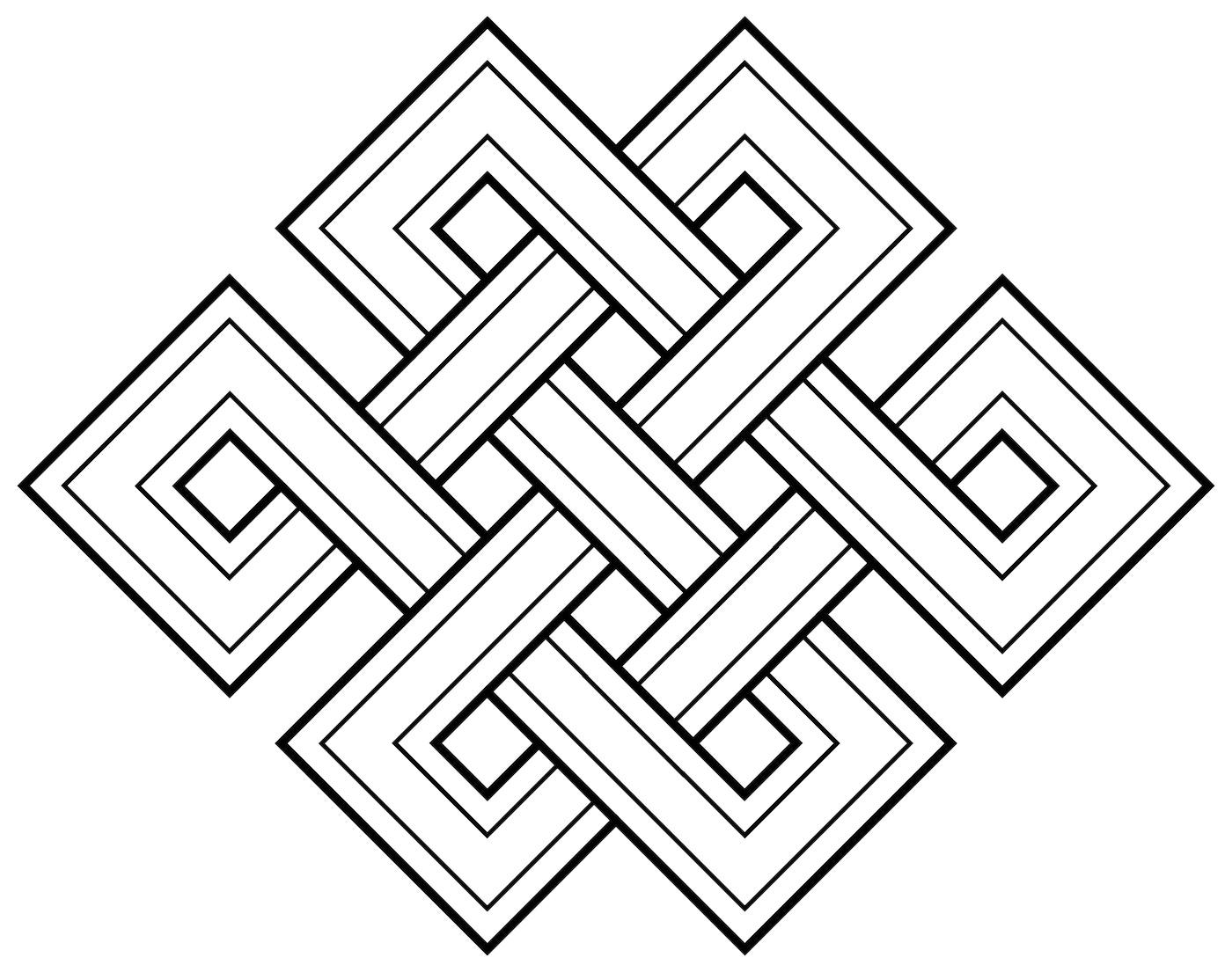 Buddhist Endless Knot symbol