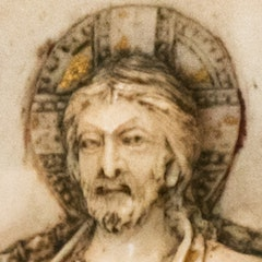 Detail of Deesis on ivory triptych from Constantinople, Louvre Museum, Paris