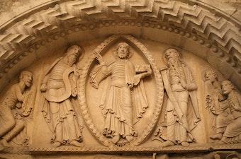 Tympanum: Transfiguration of Christ