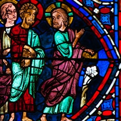 Apostles Window 6: John and Andrew Follow Christ