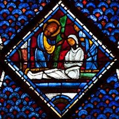 Mary Magdalene Window 9-11: Raising of Lazarus