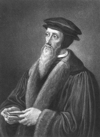 Portrait of John Calvin in 1554