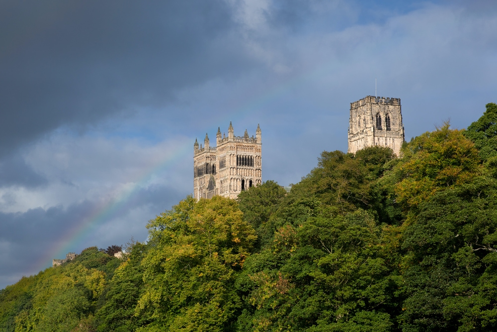 Cathedral Towers with Rainbow