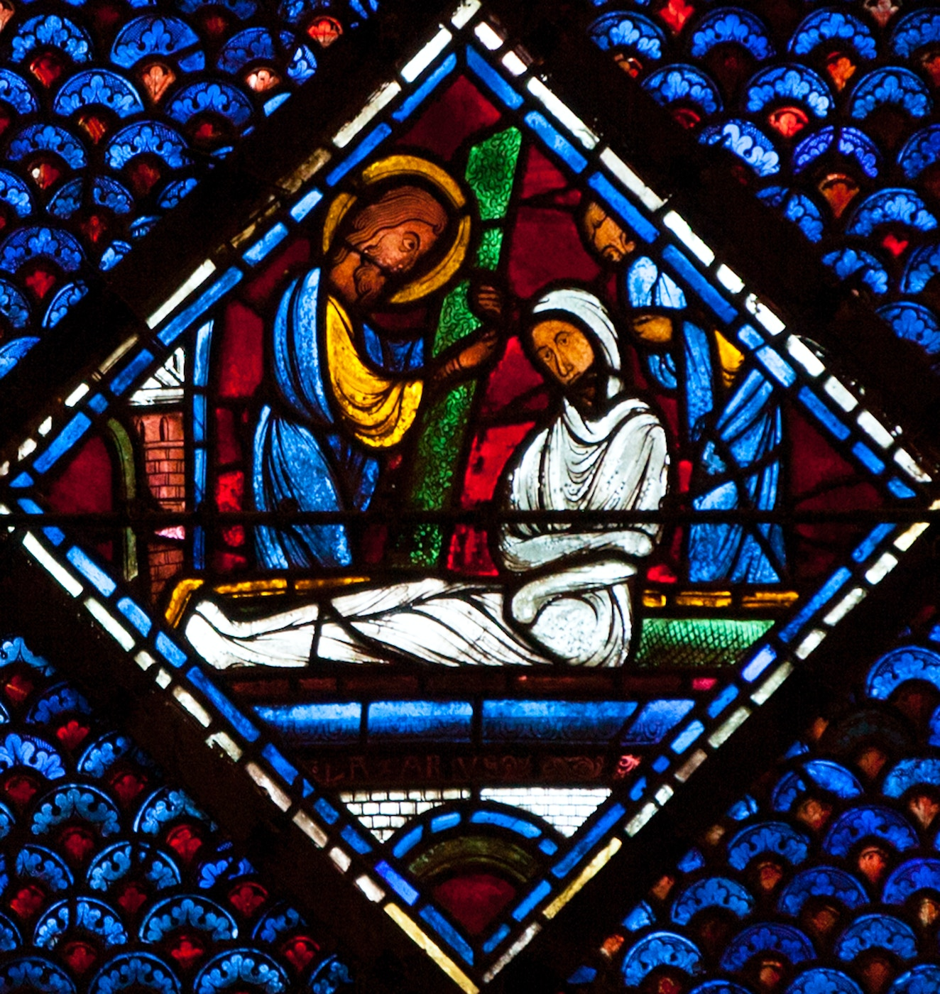 Mary Magdalene Window 10: Raising of Lazarus