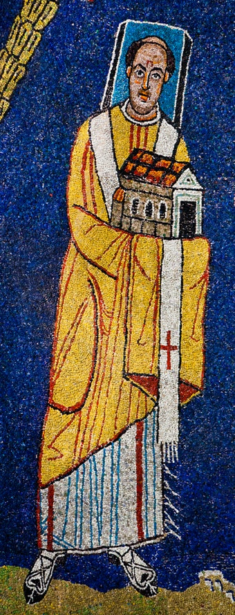 Apse Mosaic: Pope Paschal I