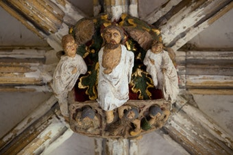 Cloister Roof Boss: Resurrection of Christ