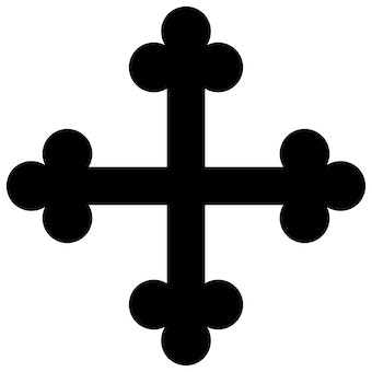 Budded Cross Symbol