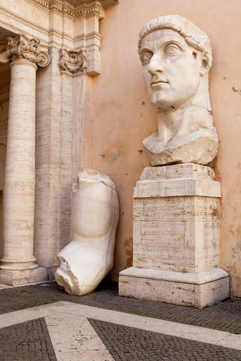 Colossal Statue of Constantine: Head