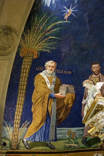 Apse Mosaic: Pope Felix VI