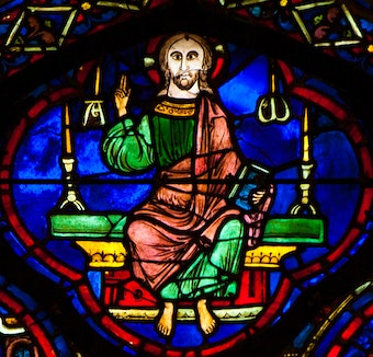 Zodiac Window 24: Christ in Majesty
