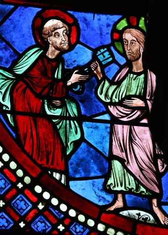 Peter and Paul Window: Traditio Clavum