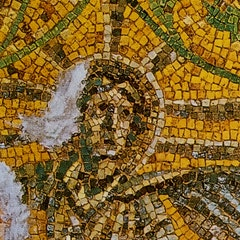Mosaic of Christ as sun god