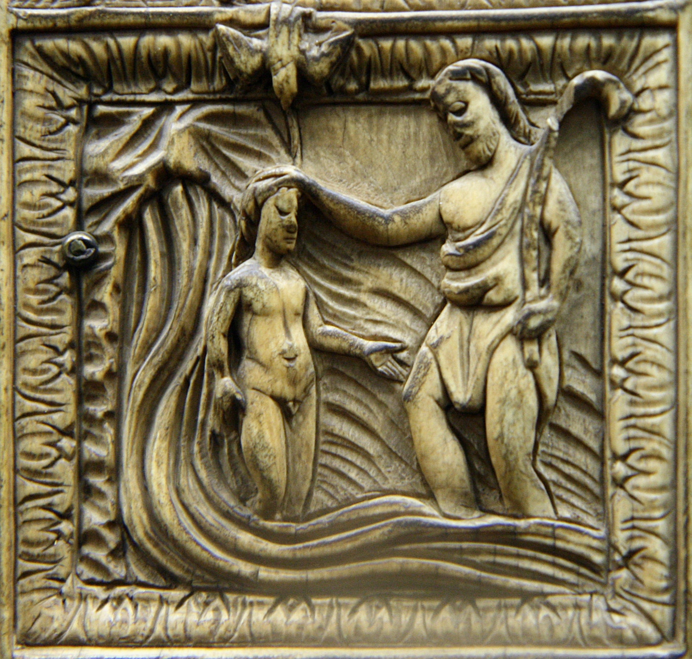 Five-Part Diptych (c.500): Baptism of Christ