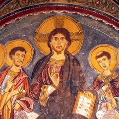 Crypt Fresco: Christ with Saints