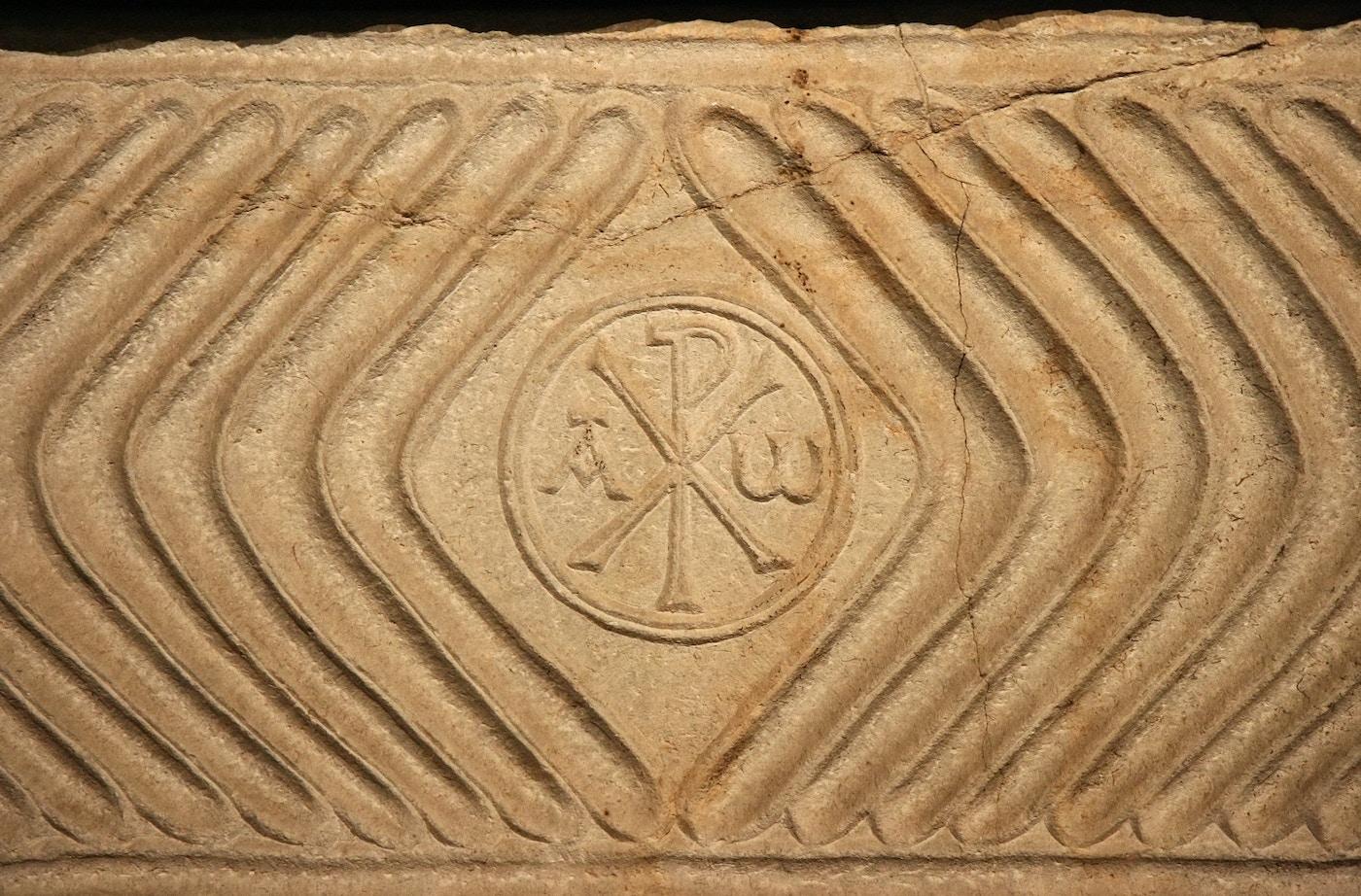 Early Christian Sarcophagus: Detail