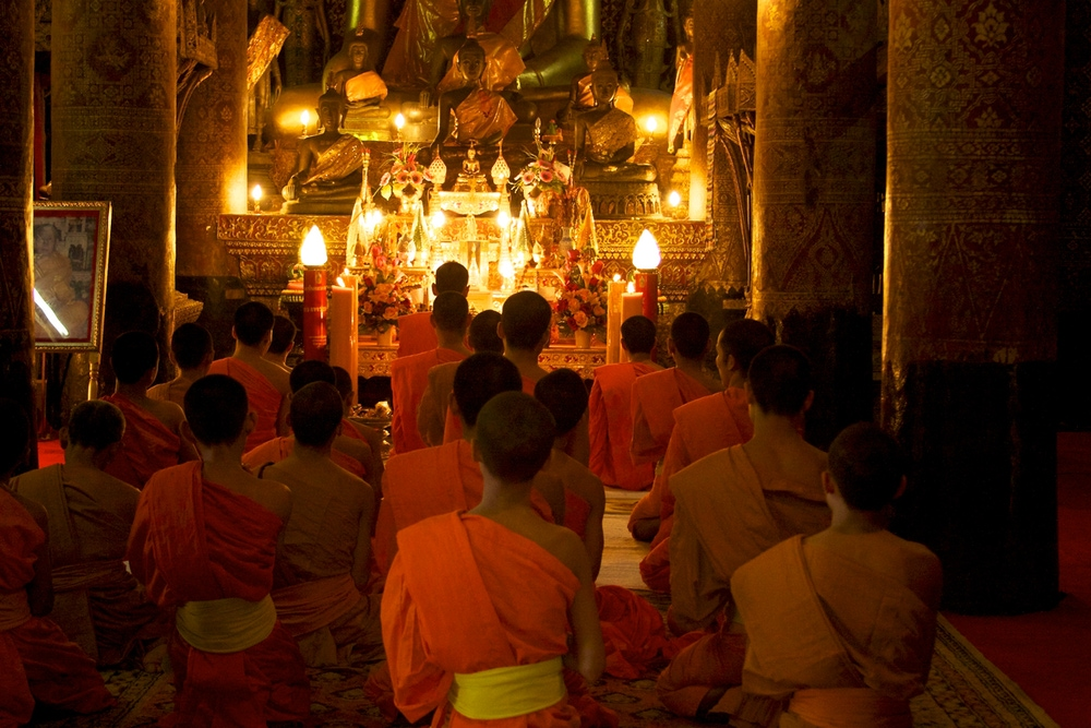 Buddhist Monks at Prayer