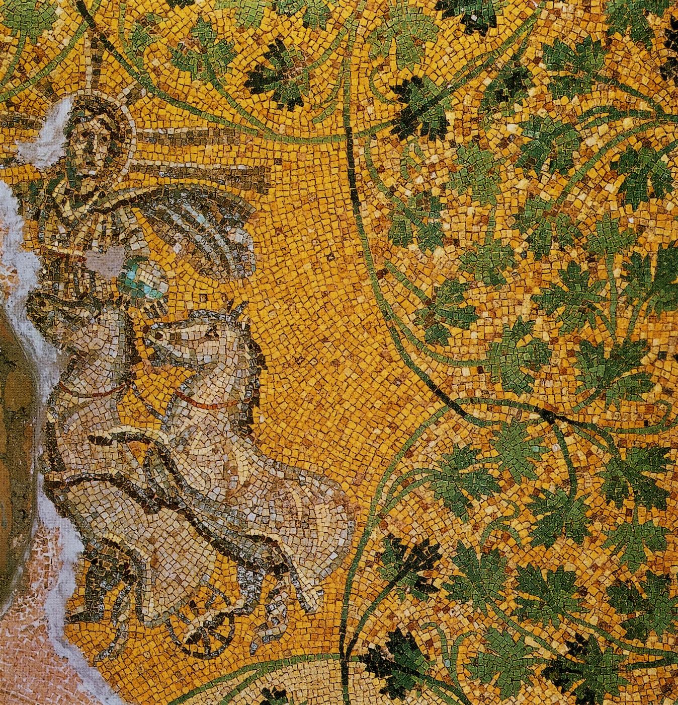 mosaic of christ as sun god religionfacts. Black Bedroom Furniture Sets. Home Design Ideas