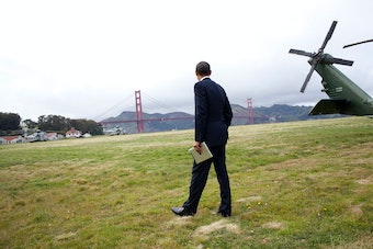 President Obama and the Golden Gate Bridge