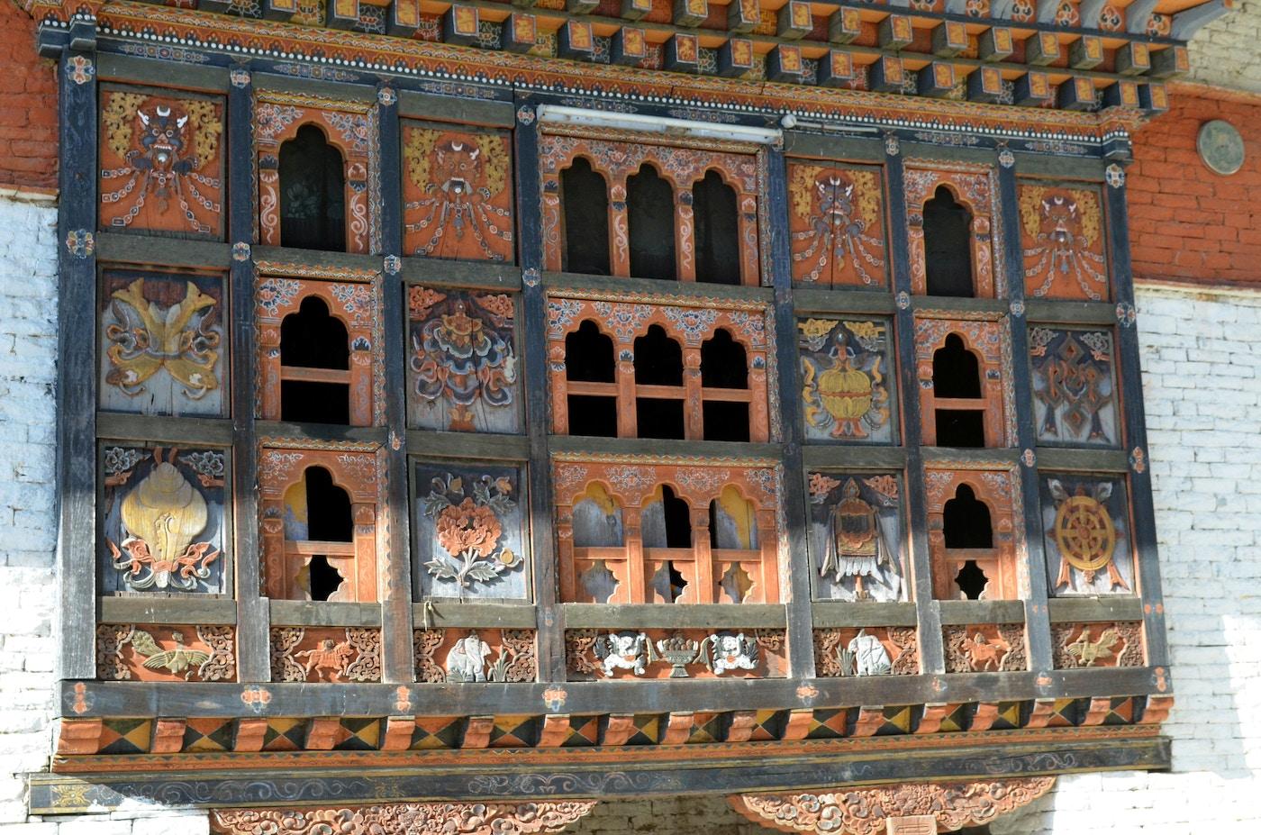 Window of Samten Chöling Temple