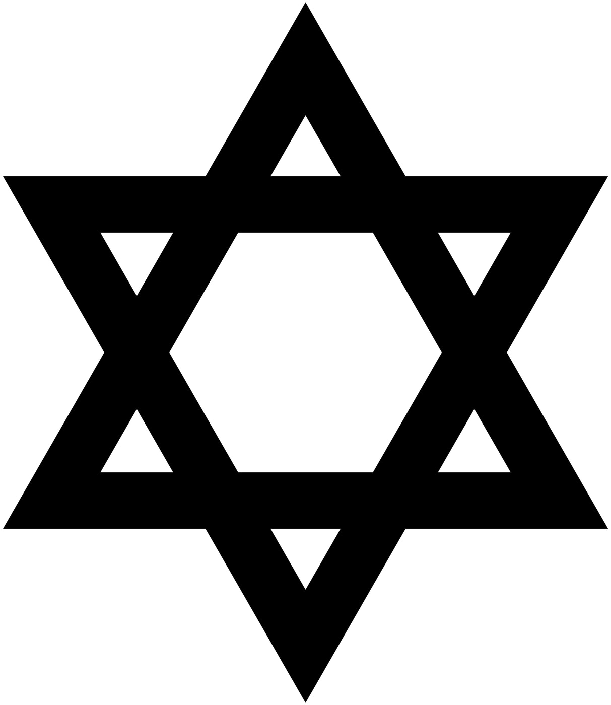 Six point star hexagram star of david religionfacts wikimedia commons buycottarizona