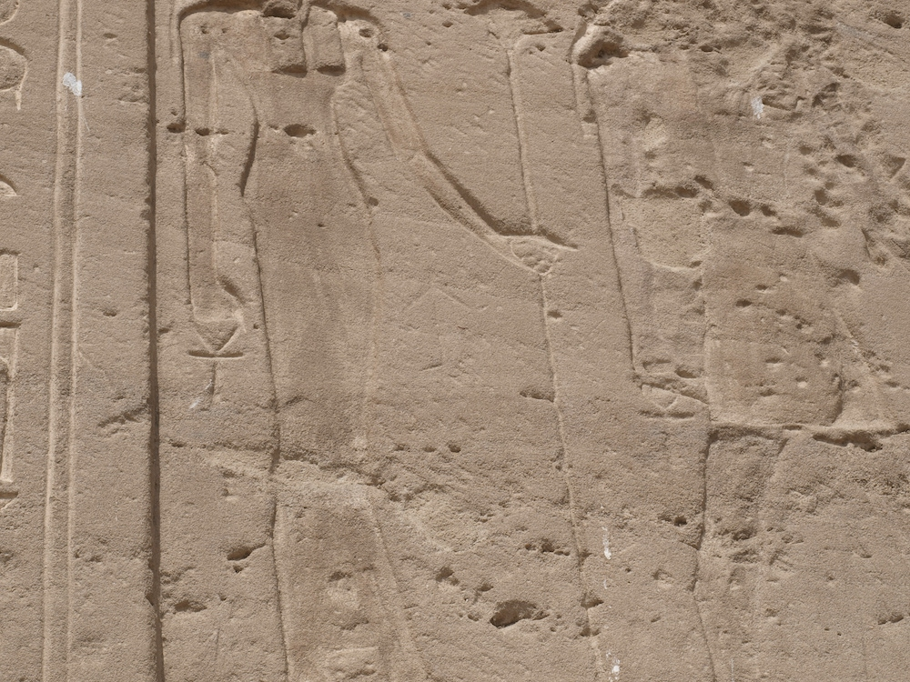 Reliefs with Ankhs at Gebel el-Silsila, Egypt