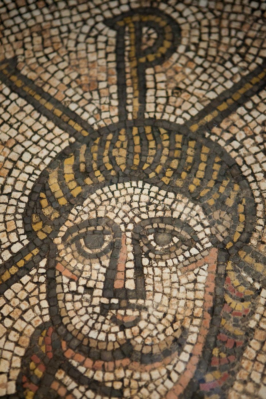 Hinton St Mary Mosaic: Detail