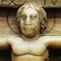 Panel from an ivory casket: the Crucifixion of Christ