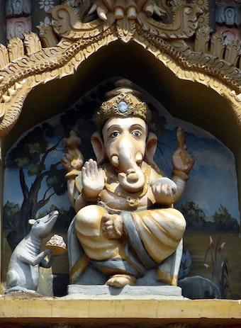 a ganesha sculpure in kandarmadam ganesha temple aathavan jaffna