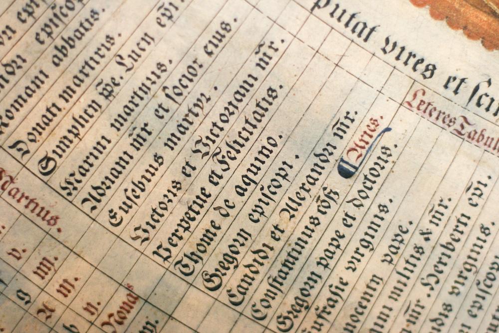 Calendar of Saints' Days