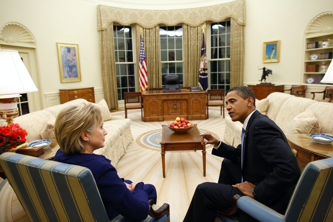 In the Oval Office with Secretary Clinton