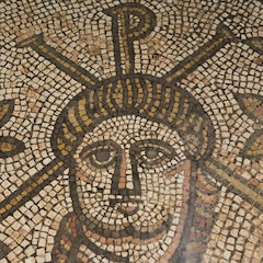 Hinton St Mary Mosaic: Detail