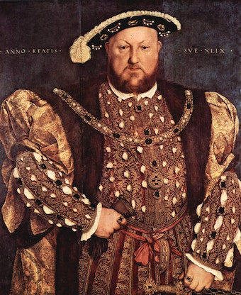 Portrait of Henry VIII by Holbein (1540)